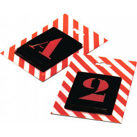 Kovové šablony versálka Čísla, 10 číslic, výška 250 mm 21250