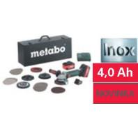 METABO W 18 LTX 125 Inox Set, 18V Aku úhlová bruska, 60017487