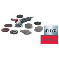 METABO 1450W Úhlová bruska na nerez WE 14-125 Inox Plus Set, 60213150