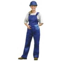 CANIS Kalhoty YVONA montérkové s náprsenkou modré dámské 103001140000