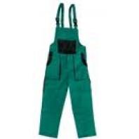 CANIS Kalhoty LUX MARTIN montérkové s náprsenkou zeleno-černé zimní 103000951000