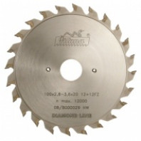 Předřezový kotouč PKD 100x2,8-3,6x22 5373 12+12 FZ - DIA 5,0 mm