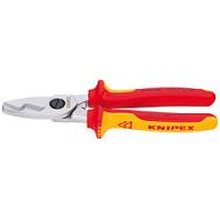 KNIPEX Nůžky kabelové s dvojitým břitem 200 mm 9516200