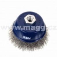 MAGG Kartáč hrnkový 100,  vlnitý drát SS 0,30, závit M14x2 - NEREZ BL97003N