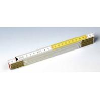 METRIE Skládací metr PROFI 10 - 2 m, barva bílá/citron Duplex III, plná stupnice Pbck01