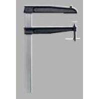 BESSEY Šroubová svěrka z temperované litiny TGNT, pro hluboké upínání, s kolíkovou rukojetí - rozpětí 400 mm, vyložení 200 mm, TGN40T20K