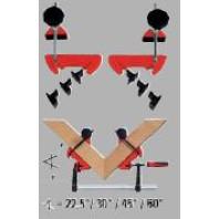 BESSEY Pokosový upínací systém, rozpětí 100 mm, MCX