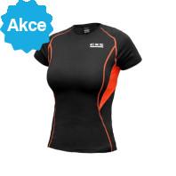 Dámské funkční tričko COMFORT, kr. rukáv, černo-oranžové 171000380300