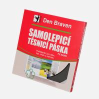 Den Braven - Samolepicí těsnicí páska do oken a dveří, 9 mm x 3 mm x 20 m, bílá B0003RL