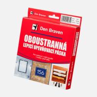 Den Braven - Oboustranně lepicí upevňovací páska v krabičce, 25 mm x 1 mm x 10 m, bílá B5321RL