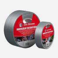 Den Braven - Univerzální textilní páska, 25 mm x 50 m, stříbrná B800TE