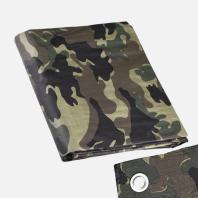 Den Braven - Zakrývací plachta s kovovými oky maskovací, 3 m x 4 m B9362FOL