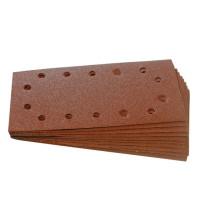 Brusný papír 115 x 230mm, perforovaný, suchý zip, 10ks - zrnitost 80 125-457004