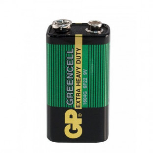 Baterie 9V ZnCl Greencell, GP Batteries, 1 kus 129-543033