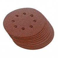 Brusný papír 150mm pro Excentické brusky, perforovaný, suchý zip, 10ks - zrnitost 240 125-763604