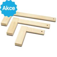 IGM Fachmann Dřevěný úhelník 90° - 350x175x20 mm M974-01002