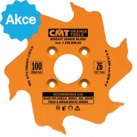 CMT Kotouč lamelovací pro lamelové spoje - D100x3,96 d22 Z6 HM střídavý zub C24000604