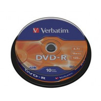 Médium Verbatim DVD-R 4,7GB 16x 10-cake 308166