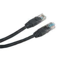Patch kabel UTP cat 5e, 0,5m - černý 505501
