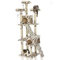 Škrábadlo Hawaj pro kočky, 170x75x50 cm, s tlapkovým vzorem 60023118