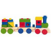 Hračka Woody Skládací nákladní vlak, 2 vagóny 695427
