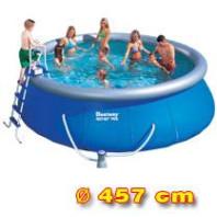 bazén samostavěcí 549 x 107 cm a kartušová filtrace  57088