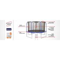 Marimex Trampolína  366 cm + vnitřní ochranná síť + schůdky ZDARMA 19000050